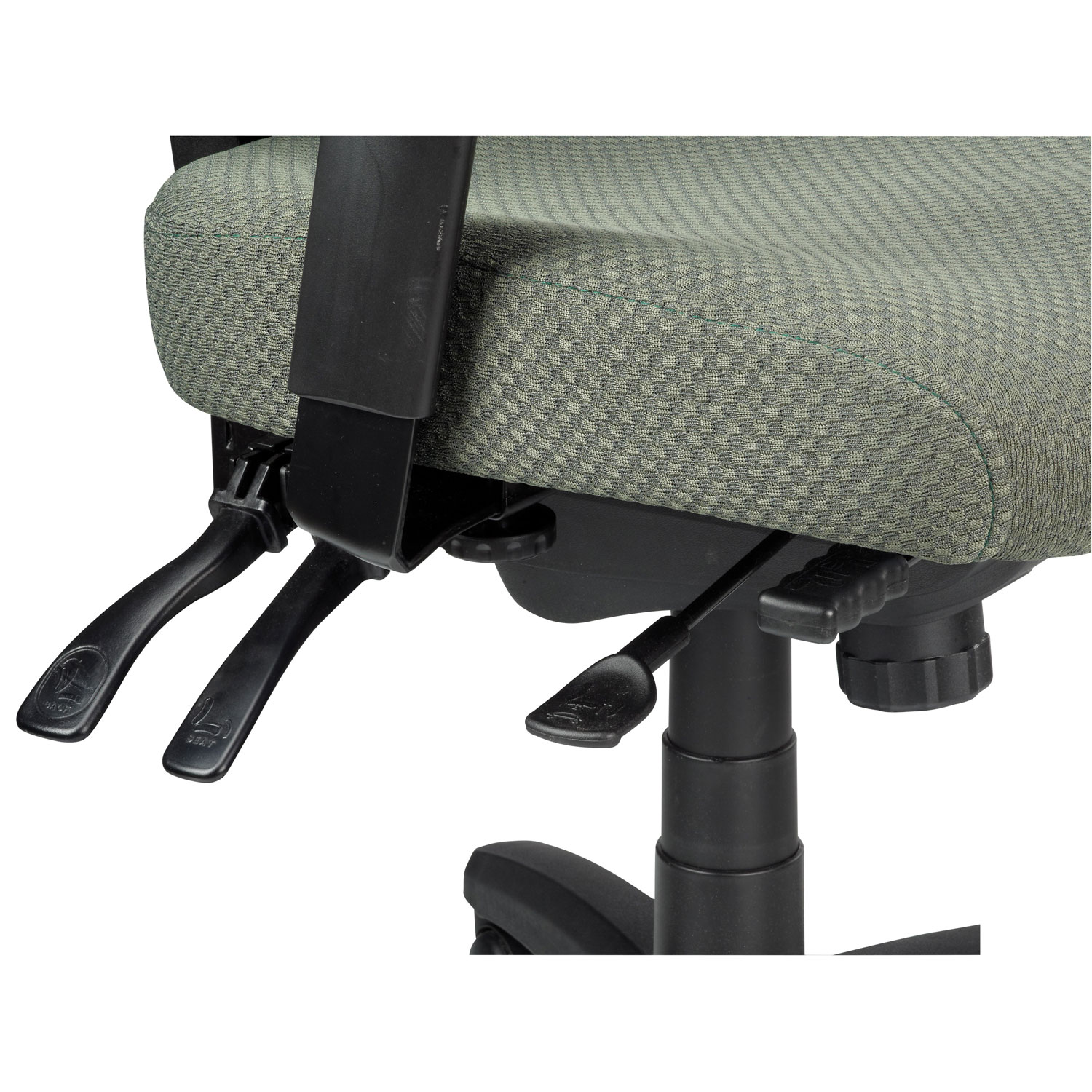Temp By Raynor Tempur Pedic Ergonomic Mid Back Fabric Office Chair Olive Best Buy Canada