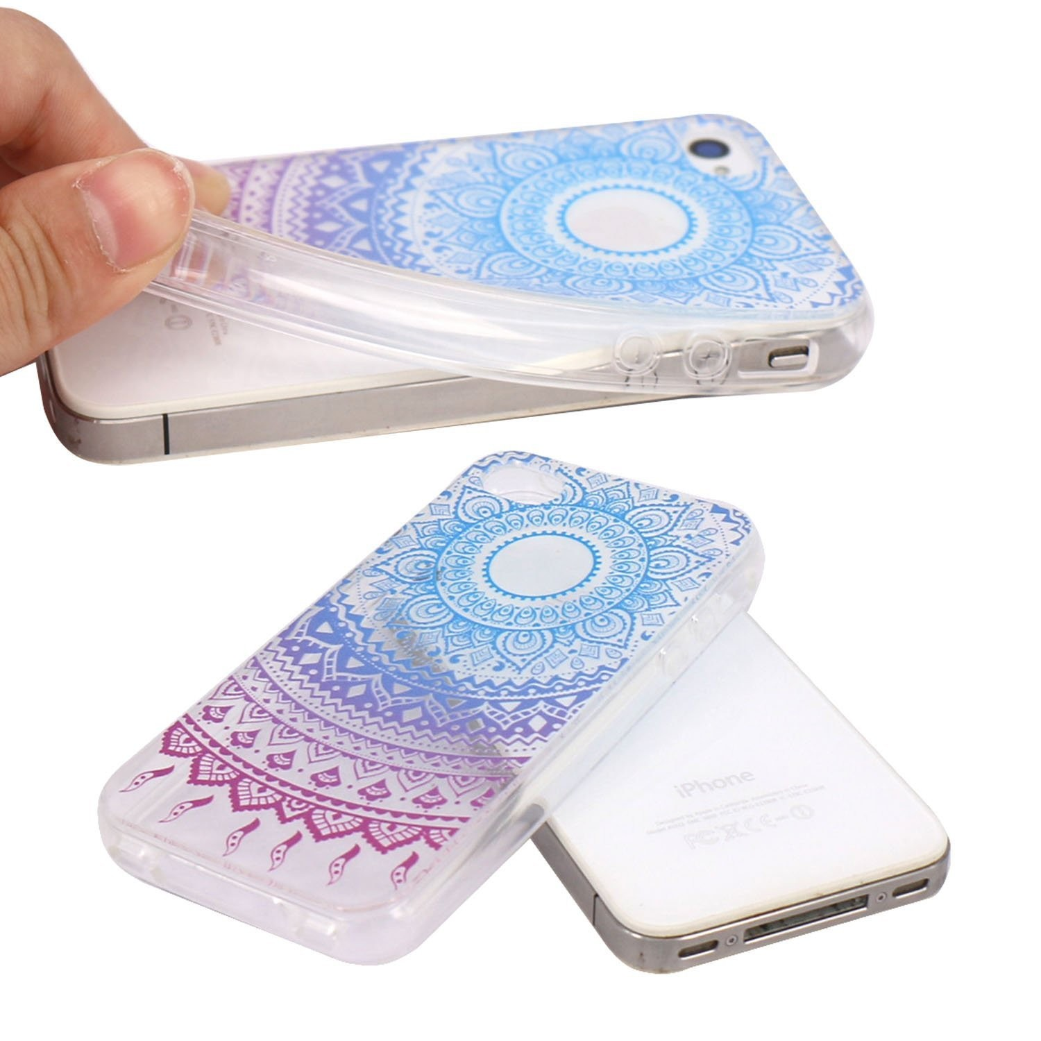 Iphone 4 Case Jaholan Beautiful Clear Tpu Soft Rubber Silicone Casing 4s Softcase Motif Owl Skin Cover For Blue Purple Tribal Mandala Cases Best Buy