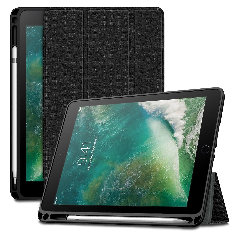Infiland iPad 9.7 2018 Case with Apple Pencil Holder, Slim Smart Tri ...