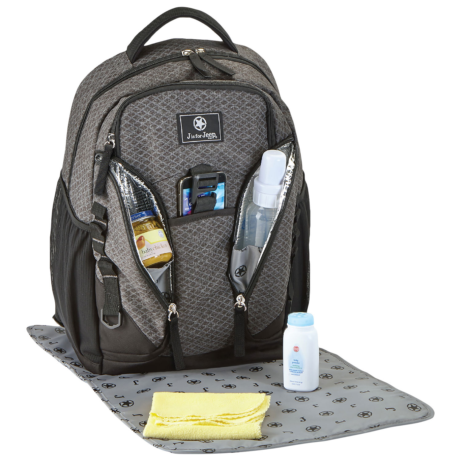 05760de0ee Jeep Adventurers Backpack Diaper Bag - Diamond Grey   Diaper Bags - Best  Buy Canada