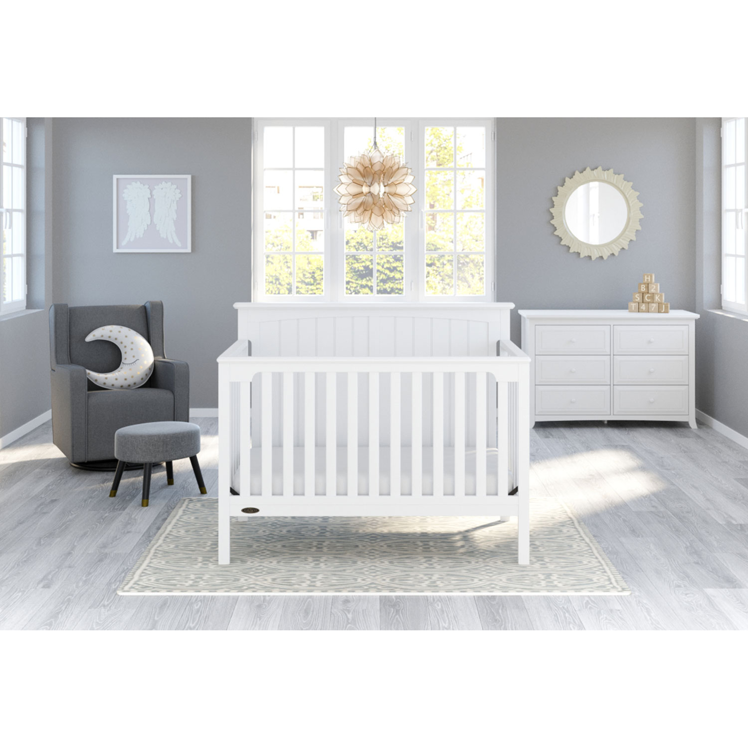 Graco Jordan 4 In 1 Convertible Crib White Only At Best Buy Best Buy Canada