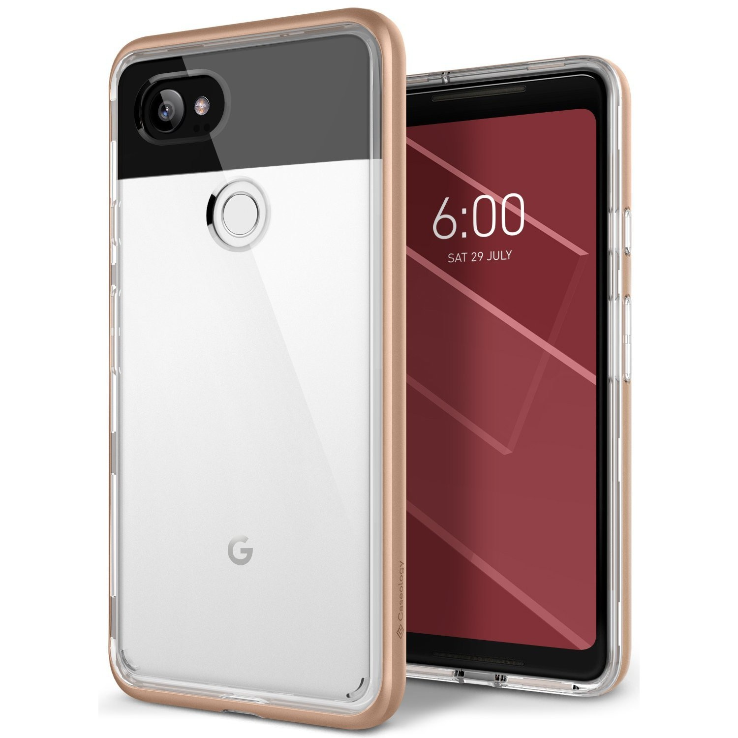 new concept b338a f5c51 Google Pixel 2 XL Case, Caseology [Skyfall Series] Slim Protective Dual  Layer Cover Geometric Design for Google Pixel 2 XL (20
