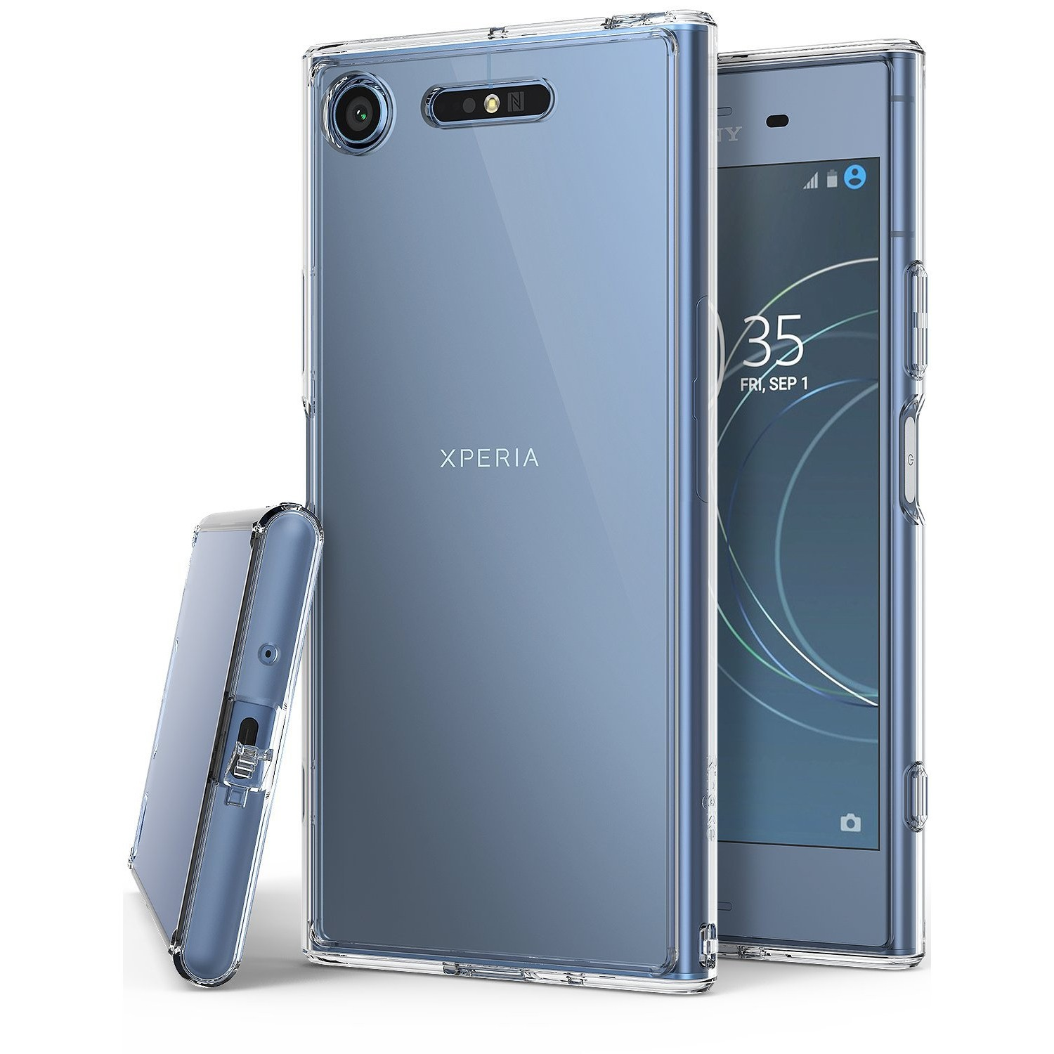 official photos 10341 677e3 Sony Xperia XZ1 Phone Case Ringke [FUSION] Crystal Clear Minimalist  Transparent PC Back TPU Bumper [Drop Protection] Scratch R