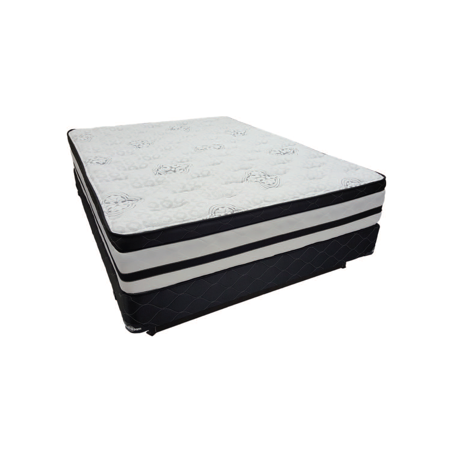 Orchid 200 Queen Size Tri Zone Pocket Coil Mattress And A Box Spring
