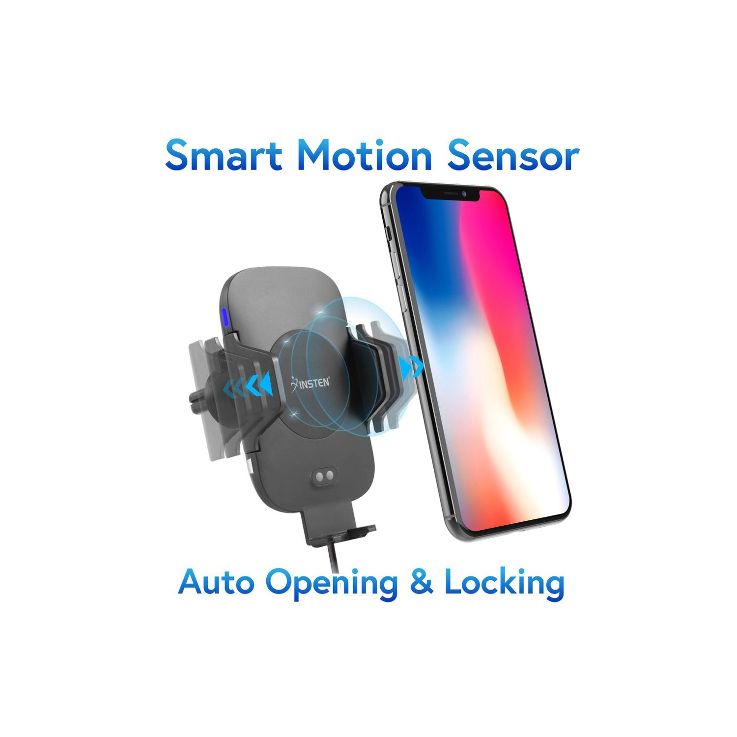 Insten Auto Opening Locking Clamping Car Mount Charger Air Vent