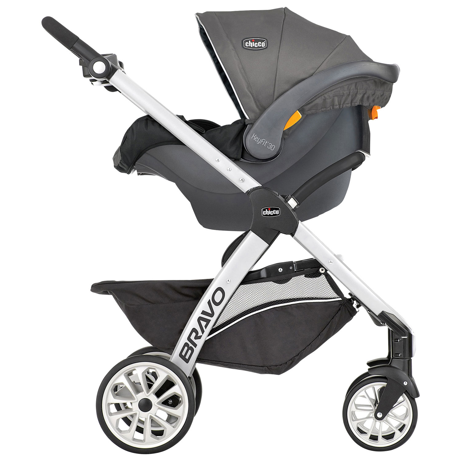 Chicco Bravo Standard Stroller with KeyFit 30 Infant Car Seat ...
