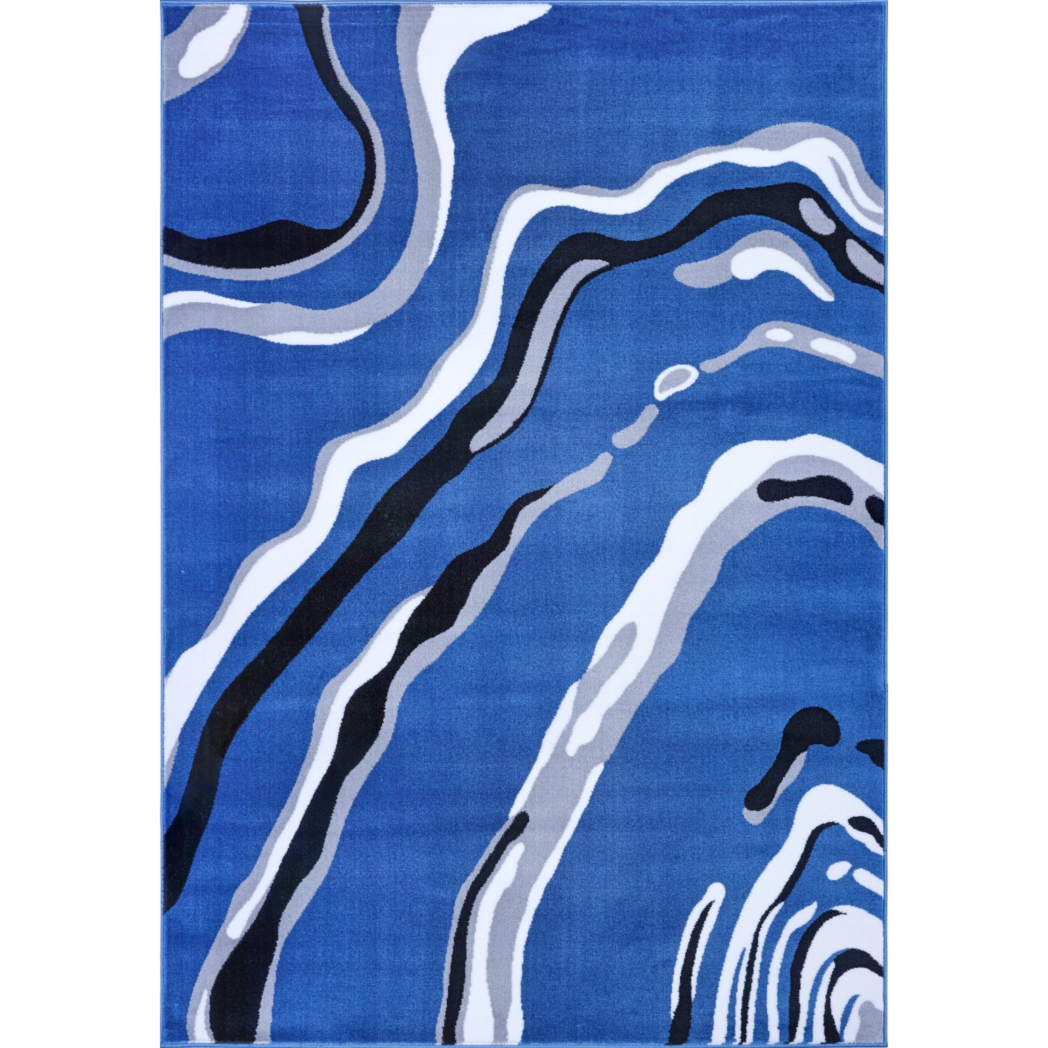 Ladole Rugs Calvin Blue Gray Abstract Area Rug 6 5 X 9 5 Best Buy Canada