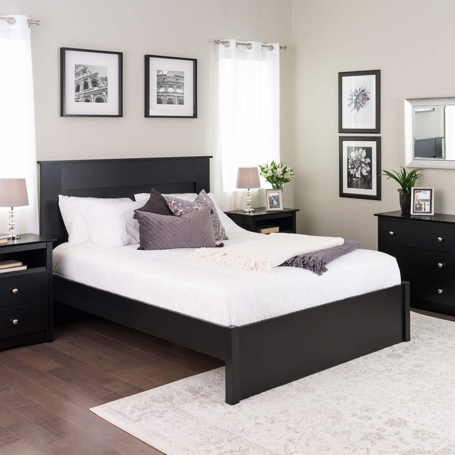 Picture of: Select Modern Platform Bed Queen Black Best Buy Canada