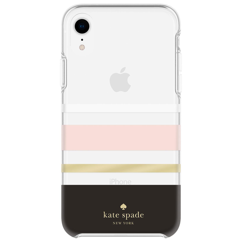 Étui rigide ajusté Charlotte de Kate Spade New York pour iPhone XR - Noir/aluminium doré