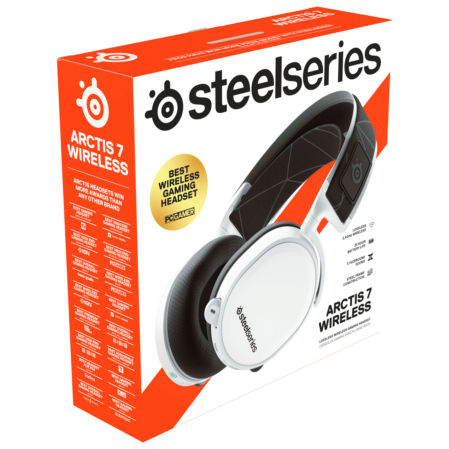 Steelseries Arctis 7 Wireless Gaming Headset With Microphone Black Best Buy Canada