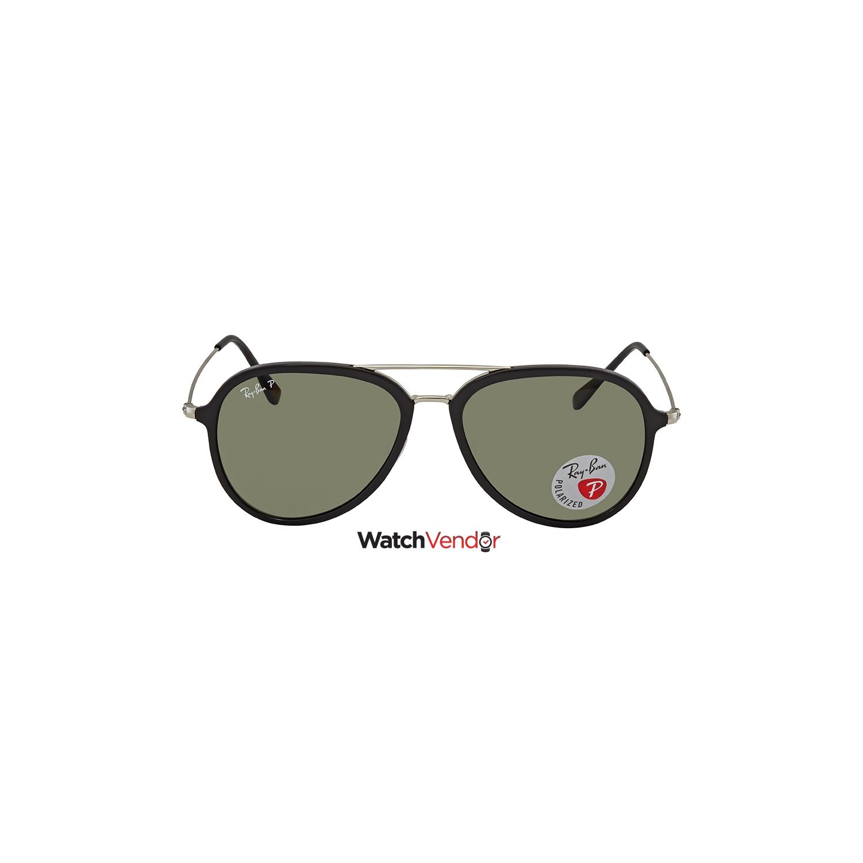 36cbb337dd Ray Ban Polarized Green Classic G-15 Aviator Sunglasses RB4298 601 9A 57    Sunglasses - Best Buy Canada