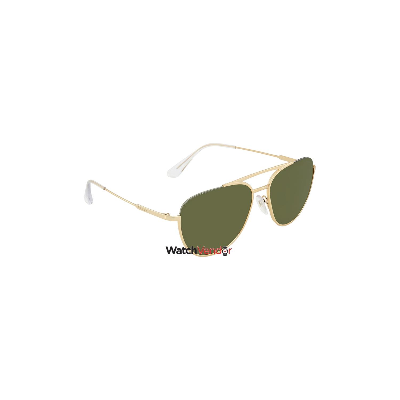 e3d188bbd775 Prada Green Aviator Sunglasses PR 50US 5AK1I0 56   Sunglasses - Best ...