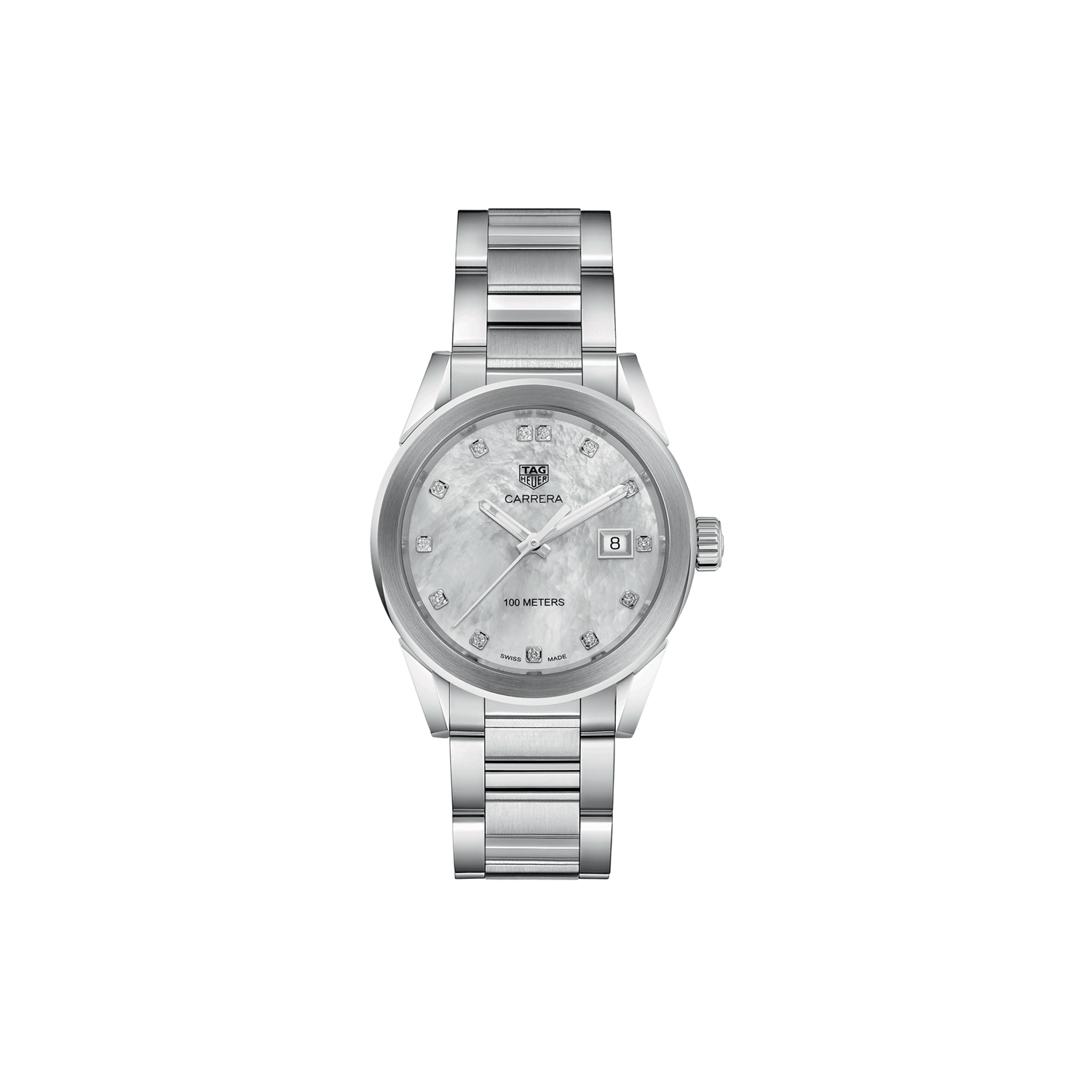 69cda200dc964 Tag Heuer Carrera Diamond Mother of Pearl Dial Ladies Watch WBG1312.BA0758  - Online Only