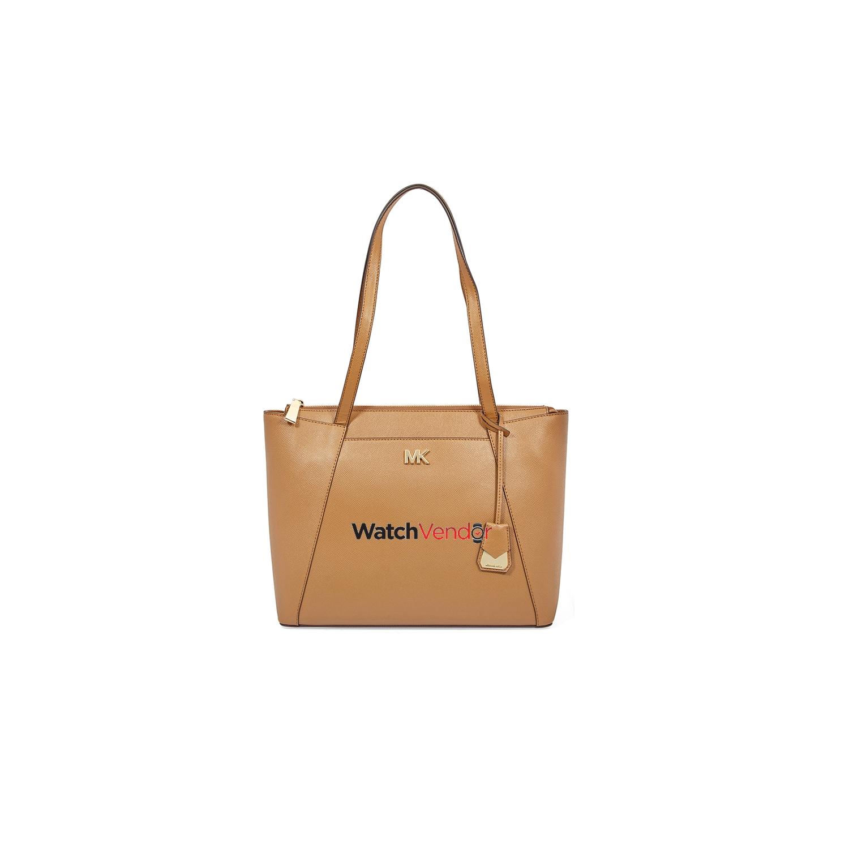 Michael Kors Maddie Medium East West Leather Tote- Acorn   Tote Bags ... 563e65c472d18