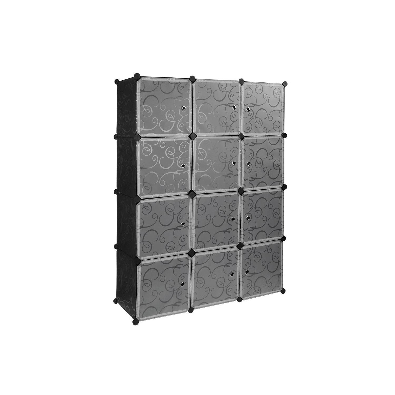 SortWise/™ Plastic Portable Wardrobe Closet Organizer Storage Shelving Cabinet 1 Cube for DIY