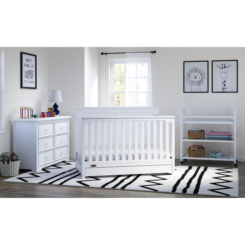Graco Hadley 4 In 1 Convertible Crib White Best Buy Canada