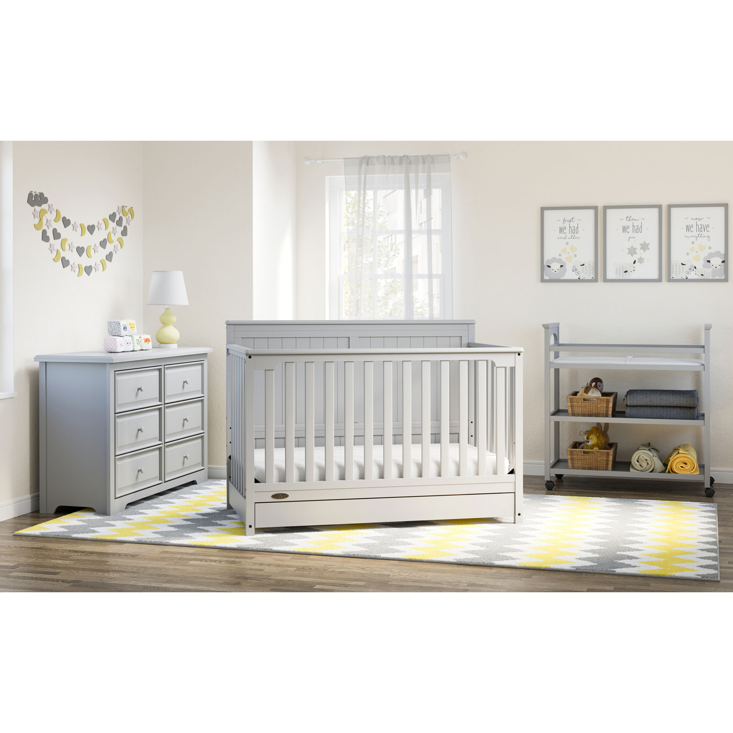 Graco Hadley 4 In 1 Convertible Crib Grey Best Buy Canada