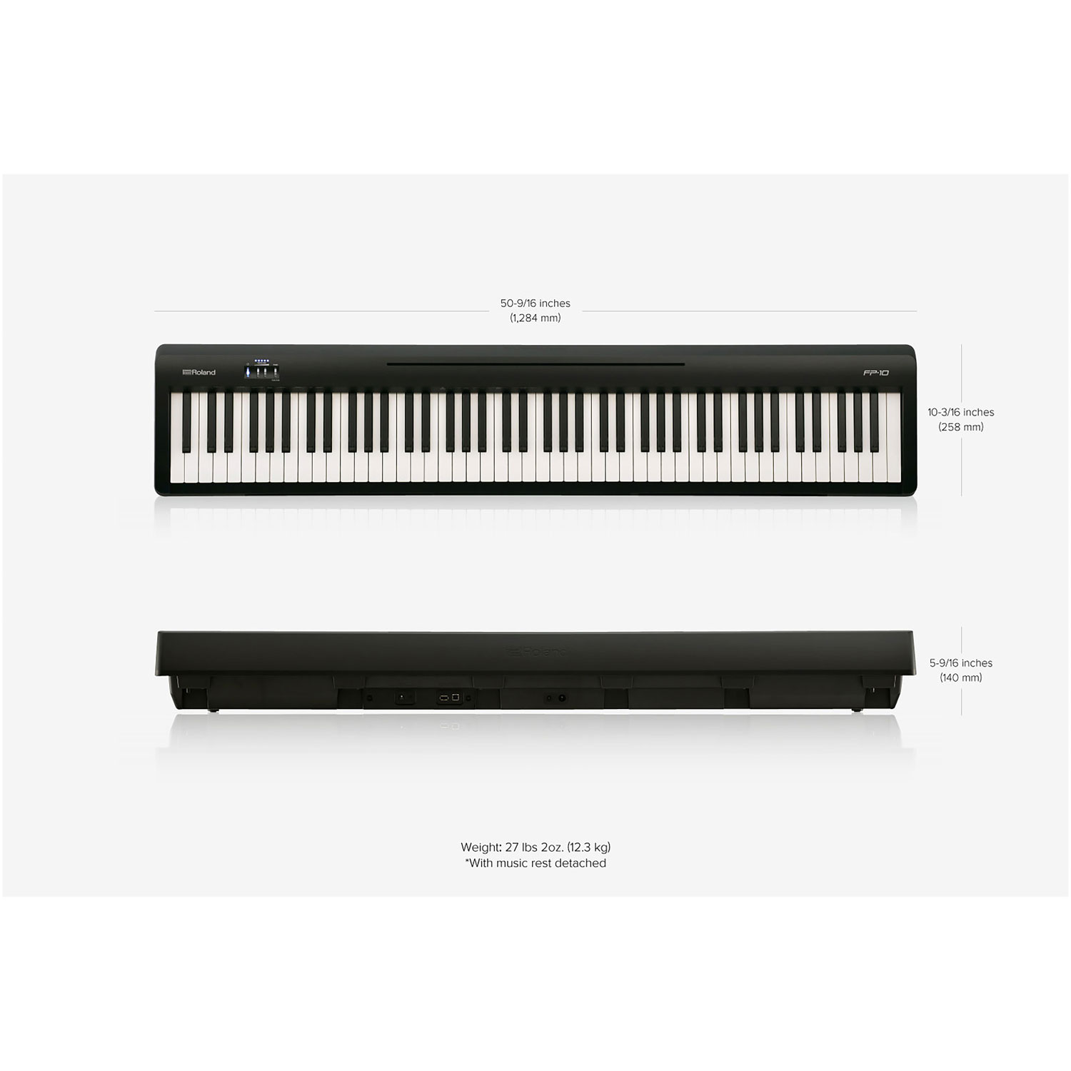 Roland 88 Key Weighted Action Digital Piano Fp 10 Black Best Buy Canada