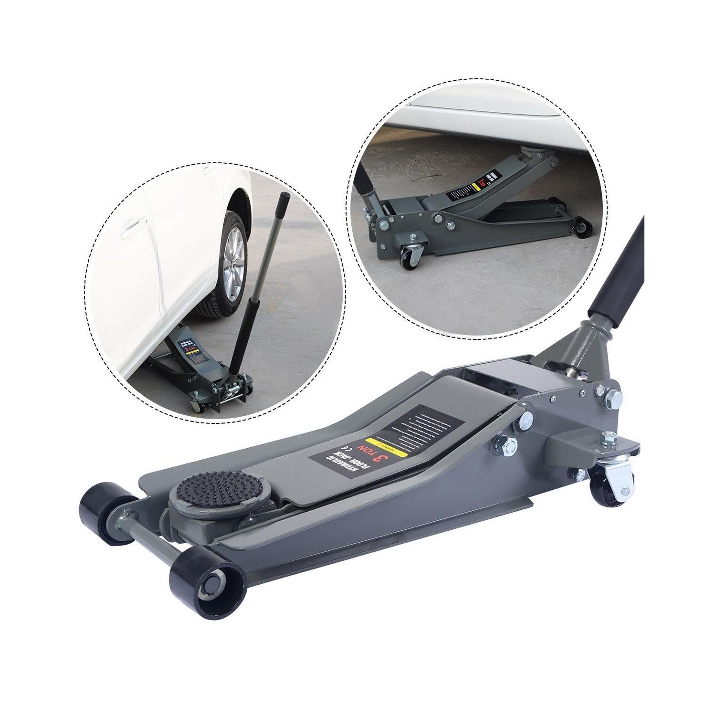 3 Ton Heavy Duty Steel Ultra Low Profile Floor Jack Rapid Pump Car Lowrider  - Online Only