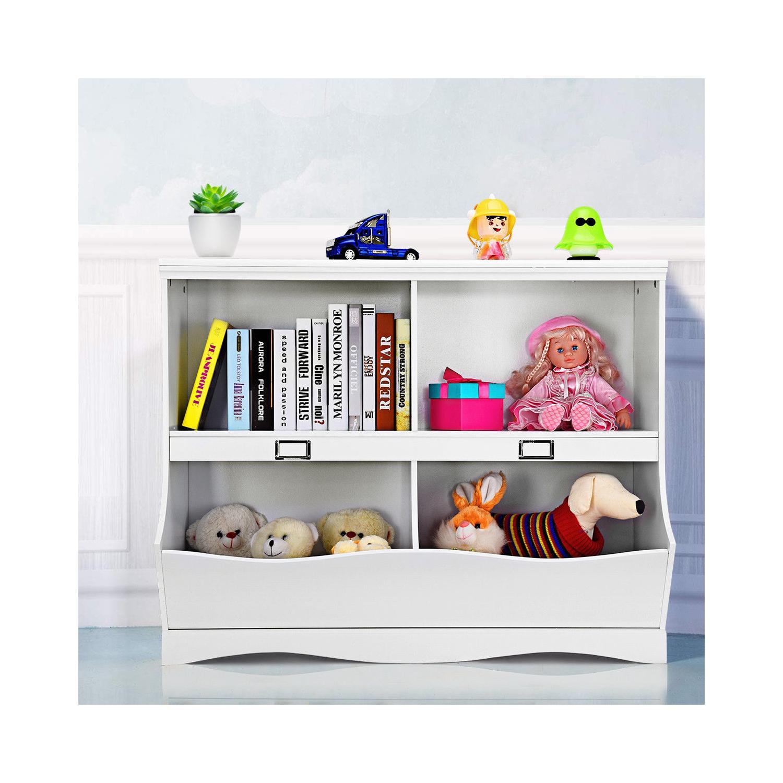 Gymax Children Storage Unit Kids Bookshelf Bookcase Baby Toy Organizer Shelf White Best Buy Canada