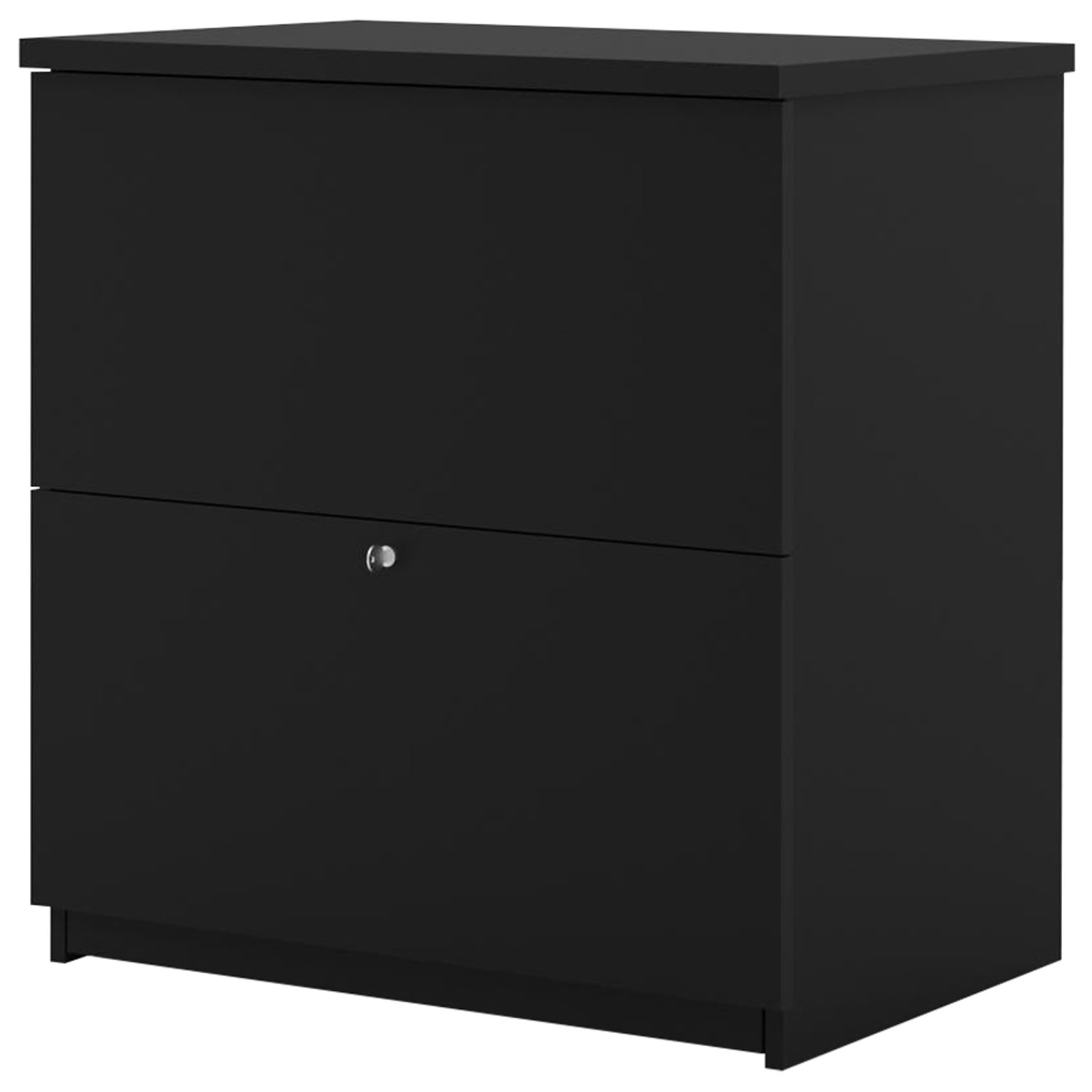 Picture of: Bestar Standard 2 Drawer Lateral File Cabinet Black Best Buy Canada