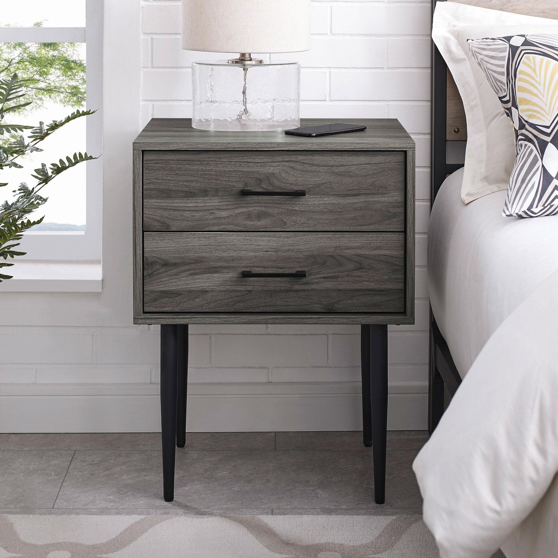 Winmoor Home Modern 2 Drawer Nightstand Slate Grey Best Buy Canada