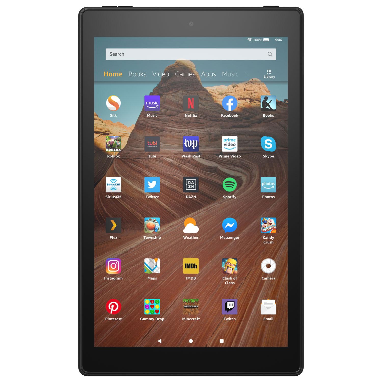 Amazon Fire Hd 10 1 32gb Fireos 7 Tablet With Mtk Mt8183 8 Core Processor Black Best Buy Canada