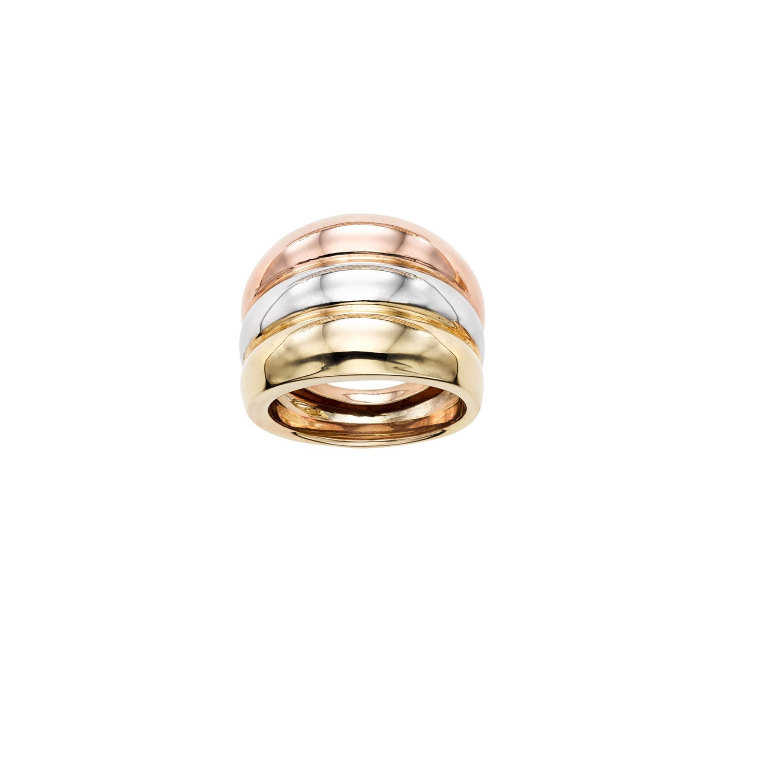14k Yellow White Rose Gold Cross Over Womens Ring Best Buy Canada