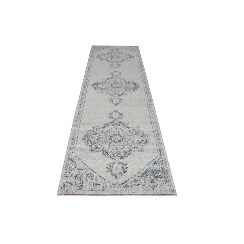 Ladole Rugs Miranda Persian Design Traditional Style Ivory Blue Indoor Runner Rug Carpet 3x5 2 7 X 4 11 80cm X 150cm Best Buy Canada