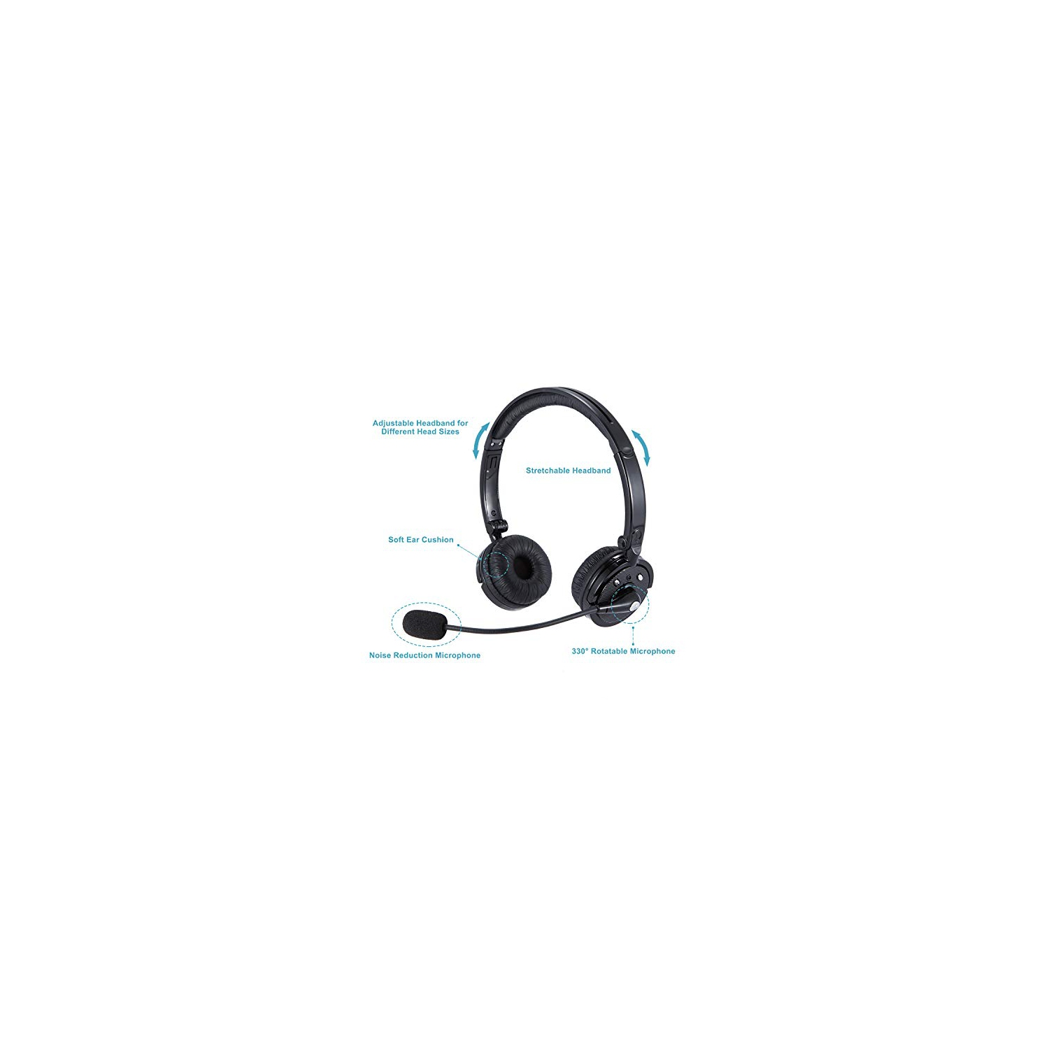 Bluetooth Headsets With Mic Noise Cancelling Wireless Bluetooth Headphones Hands Free On Ear Phone Headset With Boom Best Buy Canada