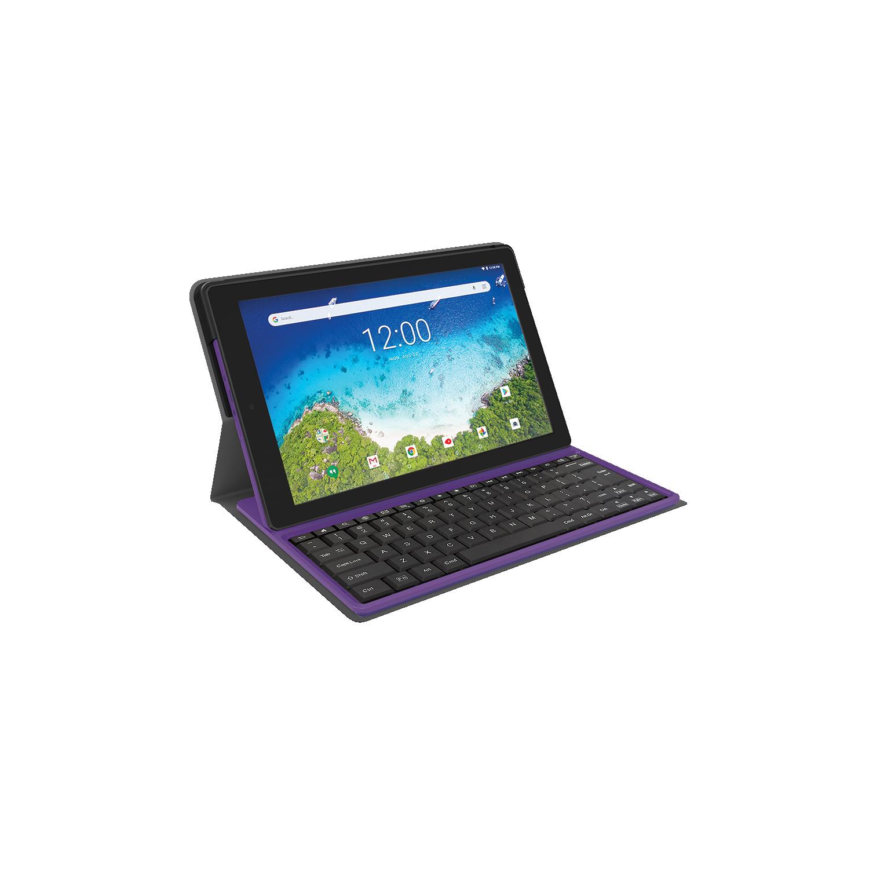 Rca Viking Pro 10 1 Android Tablet Intel Quad Core 1 3ghz 1g Ram 32gb Storage Detachable Keyboard Purple Refurbished Best Buy Canada