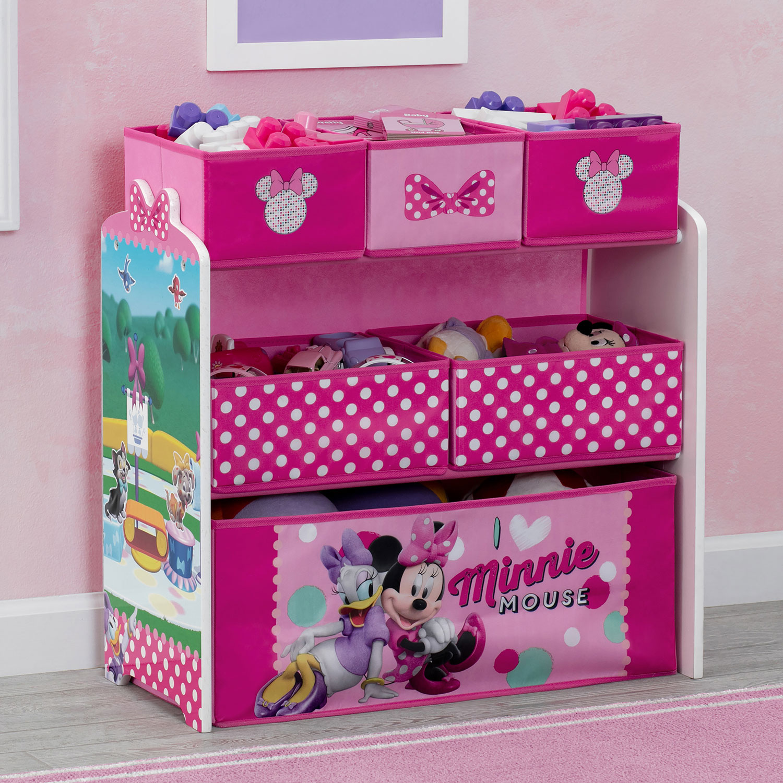 Meuble De Rangement De Jouets A 6 Compartiments Disney Minnie Mouse Rose Best Buy Canada