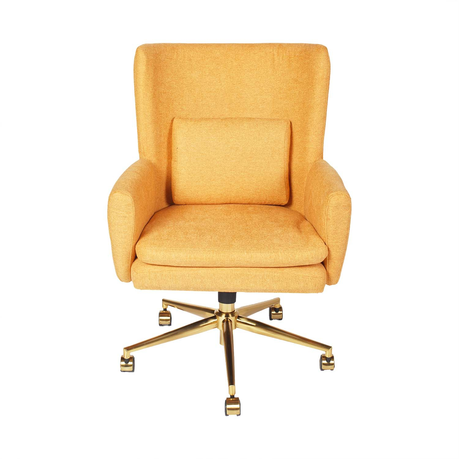 Homy Casa Home Office Chair Adjustable Height Task Chair With Armrest For Learning Fabric Chair Yellow Best Buy Canada