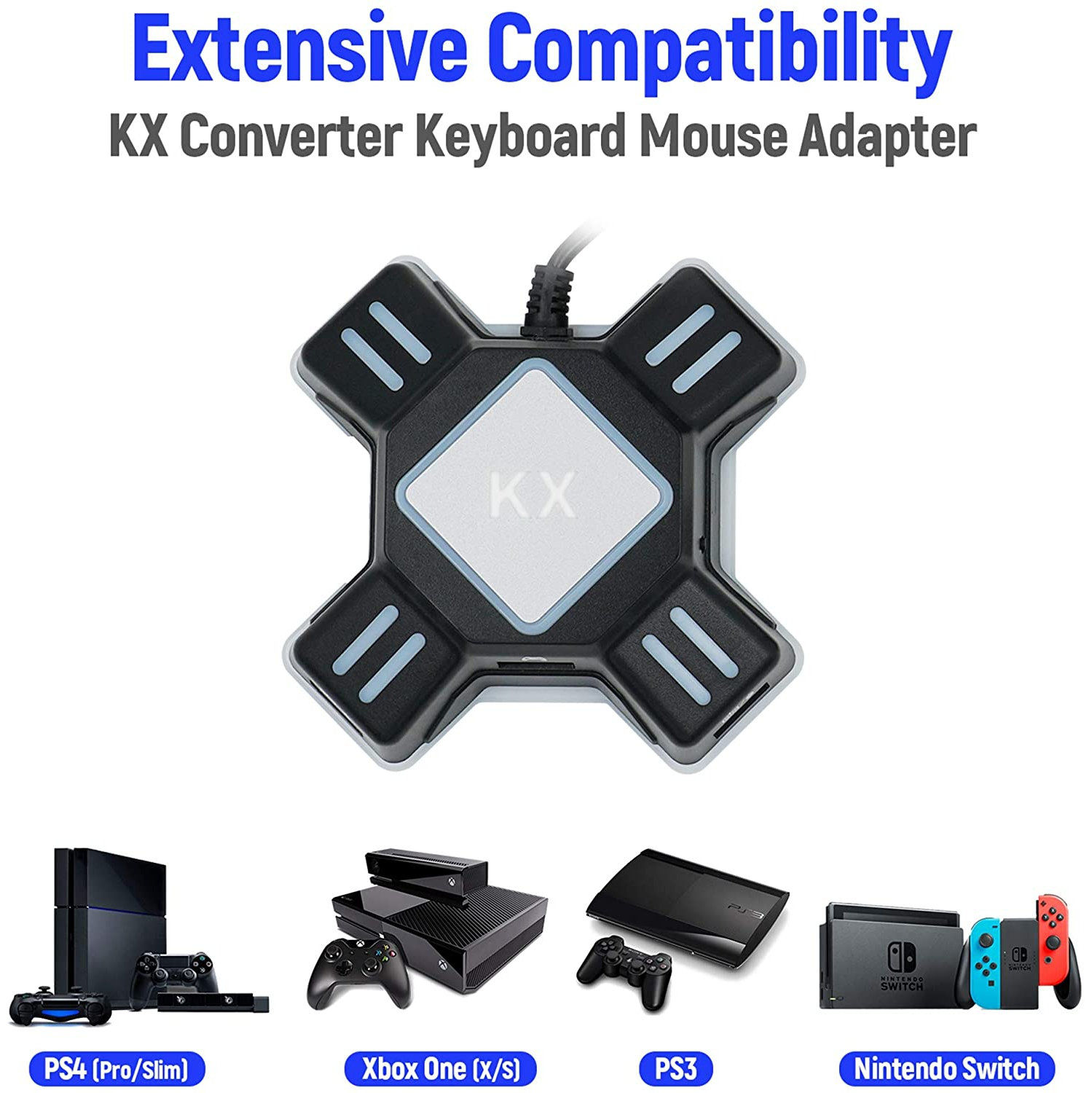 Mcbazel Kx Keyboard Mouse Adapter Gamepad Controller Converter For Nintendo Switch Xbox One Ps4 Ps3 Best Buy Canada