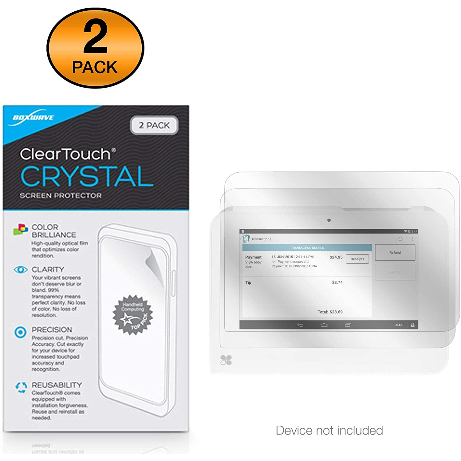 Clover Mini Screen Protector Boxwave Cleartouch Crystal 2 Pack Hd Film Skin Shields From Scratches For Clover Best Buy Canada