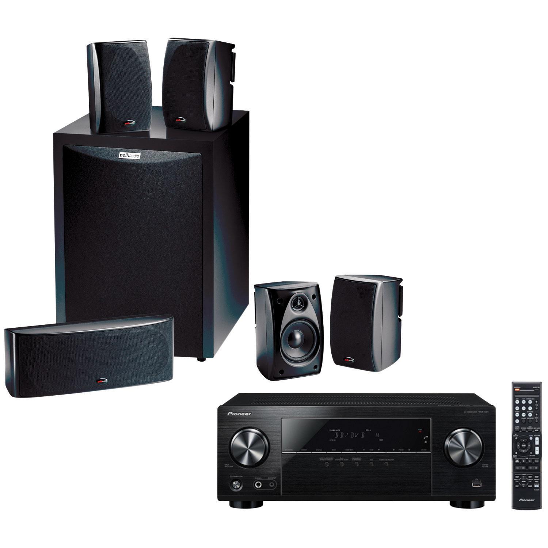 pioneer home speakers. polk audio 5.1 home theatre speaker system \u0026 pioneer channel 3d 4k ultra hd av receiver - black : speakers best buy canada e