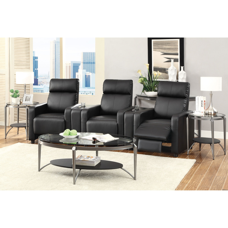 Devon 3 seat recliner home theatre seating black online only