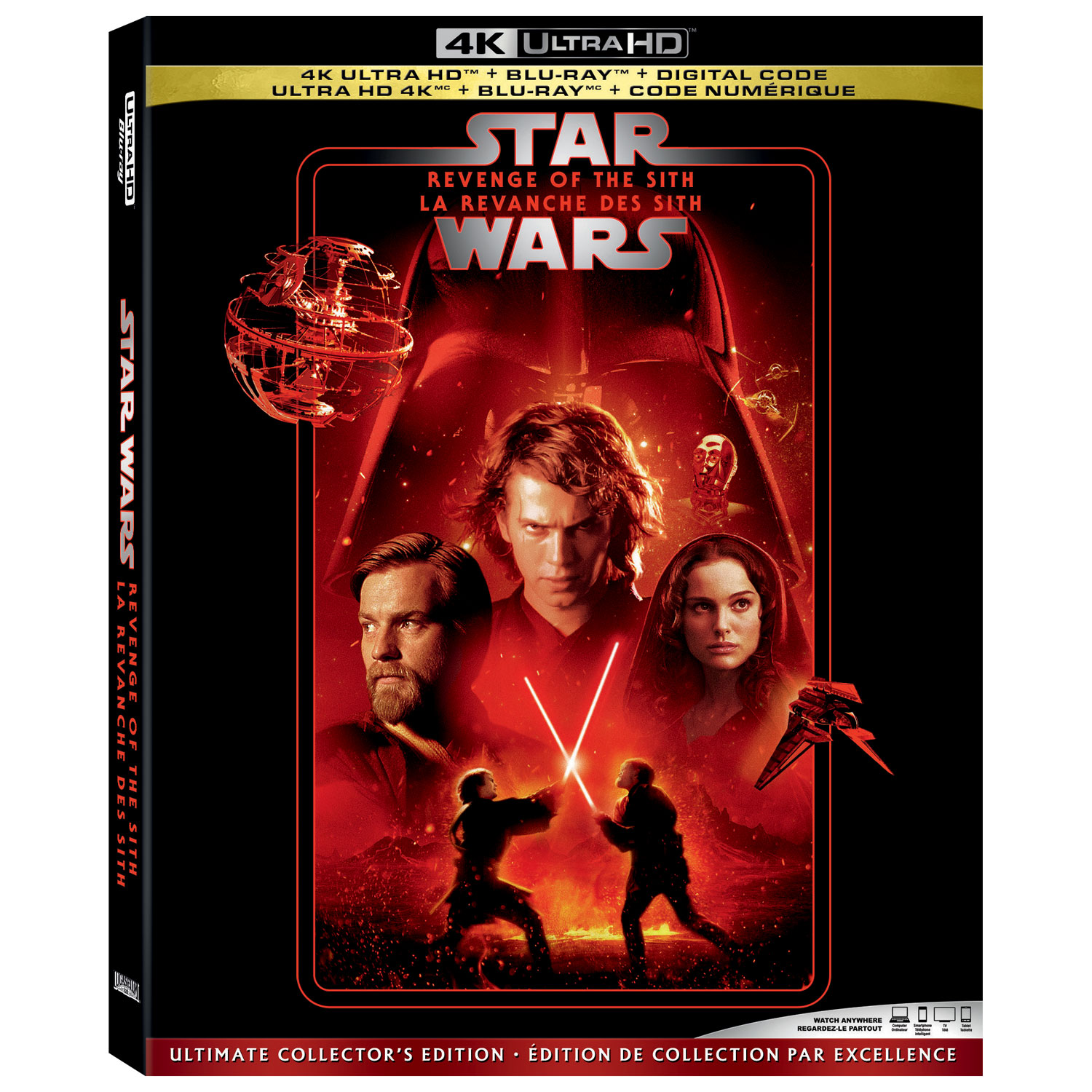 Star Wars Revenge Of The Sith Ultimate Collectors Edition 4k Ultra Hd Blu Ray Combo Best Buy Canada