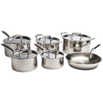 Paderno 11-Piece Commercial Collection Cookware Set - Stainless Steel