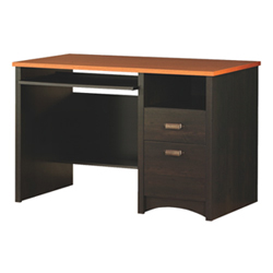 Gascony Contemporary Computer Desk   Ebony/Spice Wood