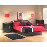 Step One Contemporary Queen Bed - Black