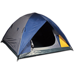World Famous Orion 4-Person Square Dome Tent - Blue/Grey
