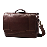 Samsonite Leather Flap Over Business Bag (49536-1139) - Brown
