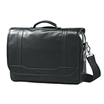 Samsonite Leather Flap Over Business Bag (49536-1041) - Black
