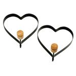 Norpro Heart Pancake/Egg Rings (980) - Black - 2 Pack