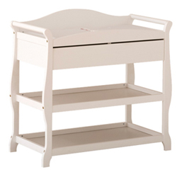 Storkcraft Aspen Changing Table With Drawer White