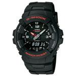 Montre analogique/numérique G-Shock (G-100-1BV) - Bracelet/cadran noirs
