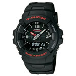 G-Shock Analog / Digital Watch (G-100-1BV) - Black Band / Dial