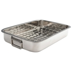 Paderno 40cm Stainless Steel Roasting Pan with Grill (1551)