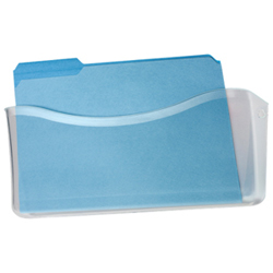 Pochette murale pour dossiers de Rubbermaid (RUB65980ROS) - Transparent